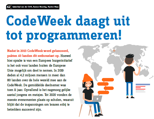 Artikel over CodeWeek in Vives 174